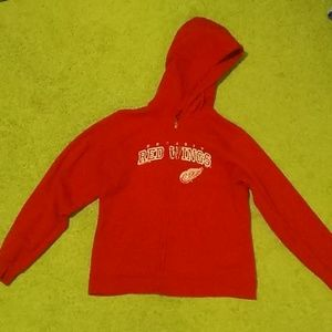 Other - NHL Detroit red wings hooded zip up sweatshirt